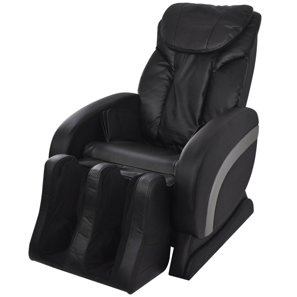 black electric artificial leather recliner massage chair black