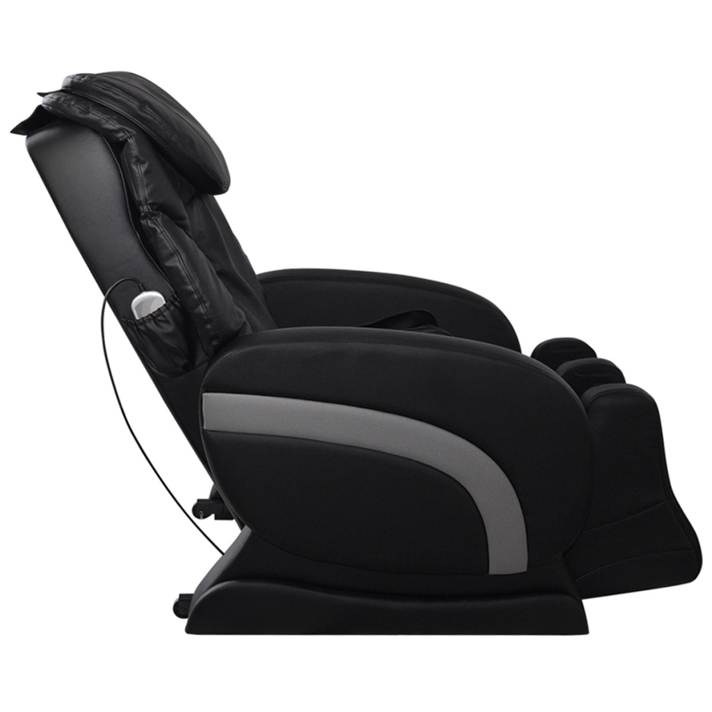 Charmant Electric Artificial Leather Recliner Massage Chair Black
