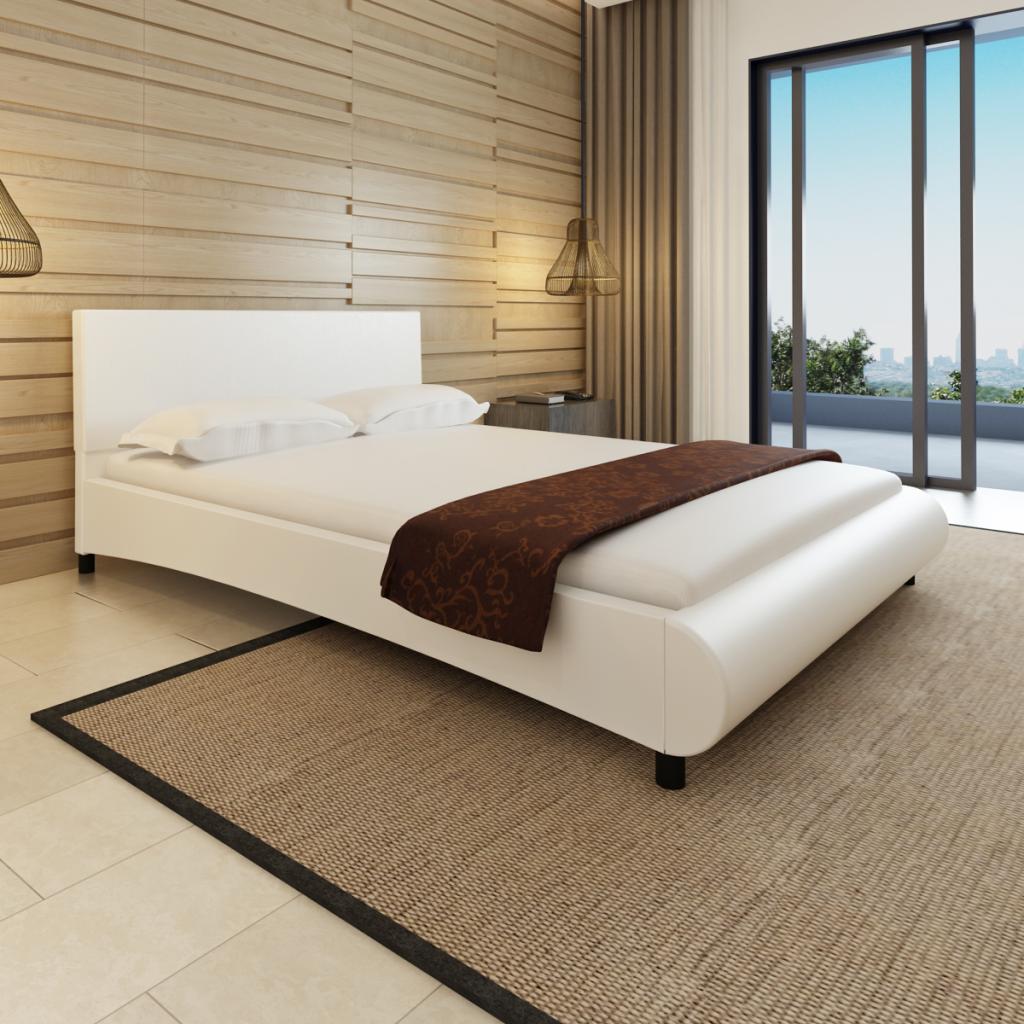Sólo 129.95€, cama de cuero sintético en el diseño del arco de 140 x ...