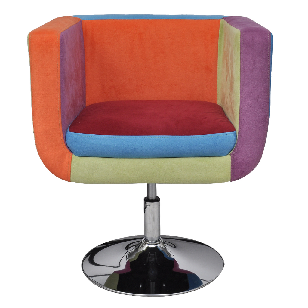 Patchwork Cube Chair Height Adjustable