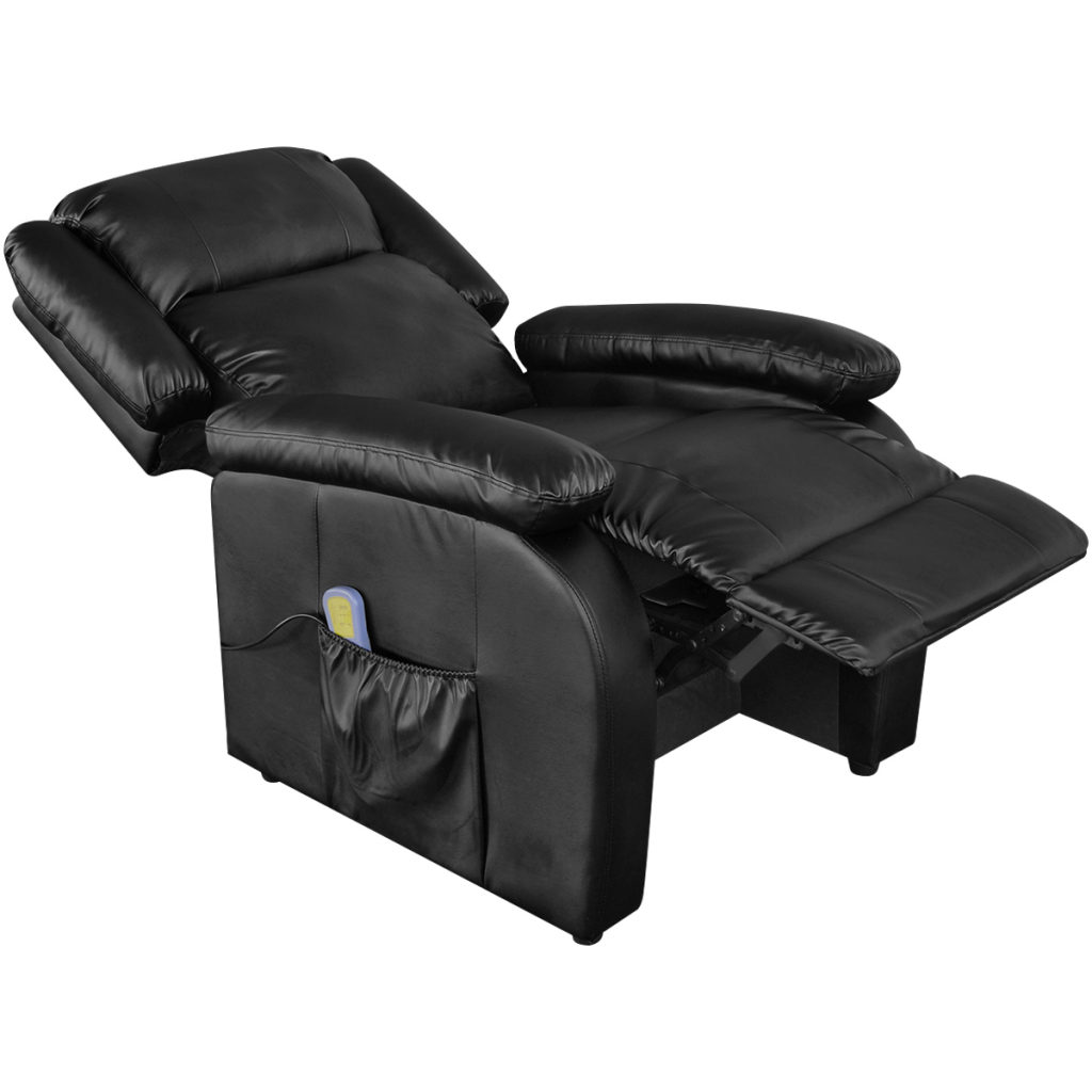 Ordinaire Electric Massage Recliner Chair Artificial Leather Black