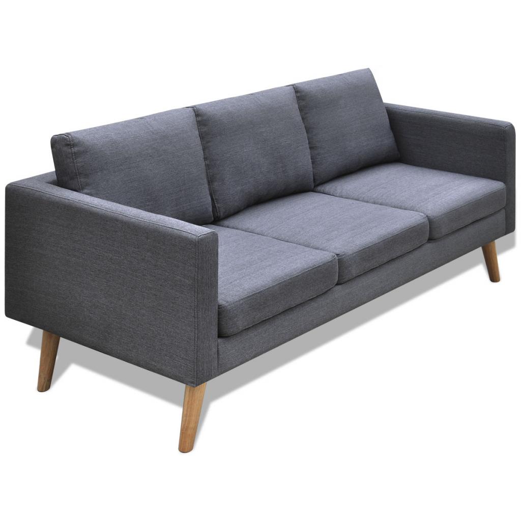 gray 3-seater Sofa Fabric Dark Gray - LovDock.com