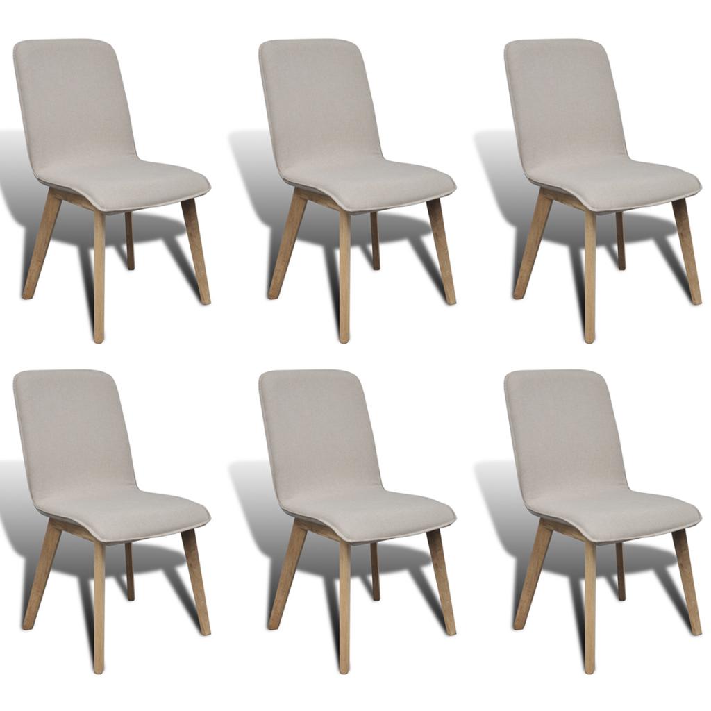 S lo set 6 piezas sillas de comedor de roble for Sillas comedor color beige