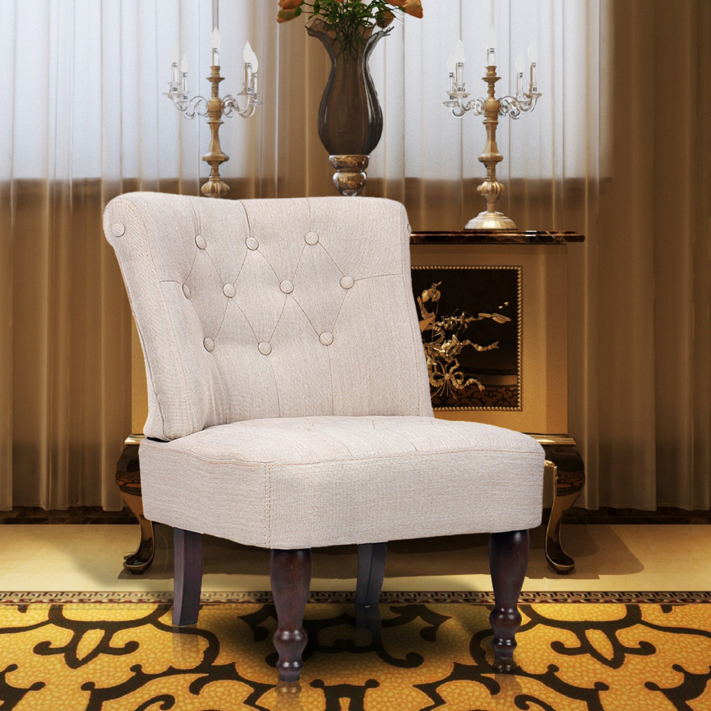 240286 1PC French Chair Creme