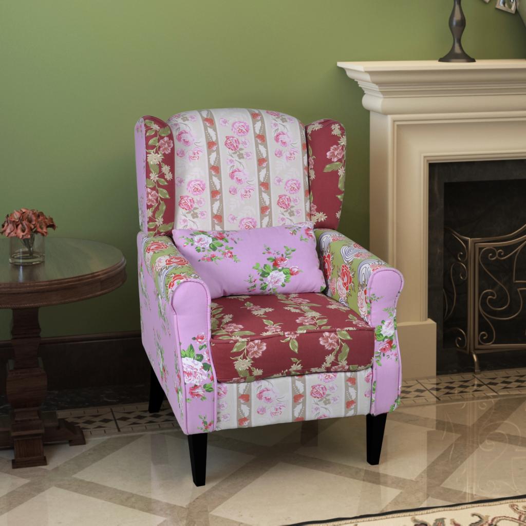 Patchwork Relax Armchair Floral Design