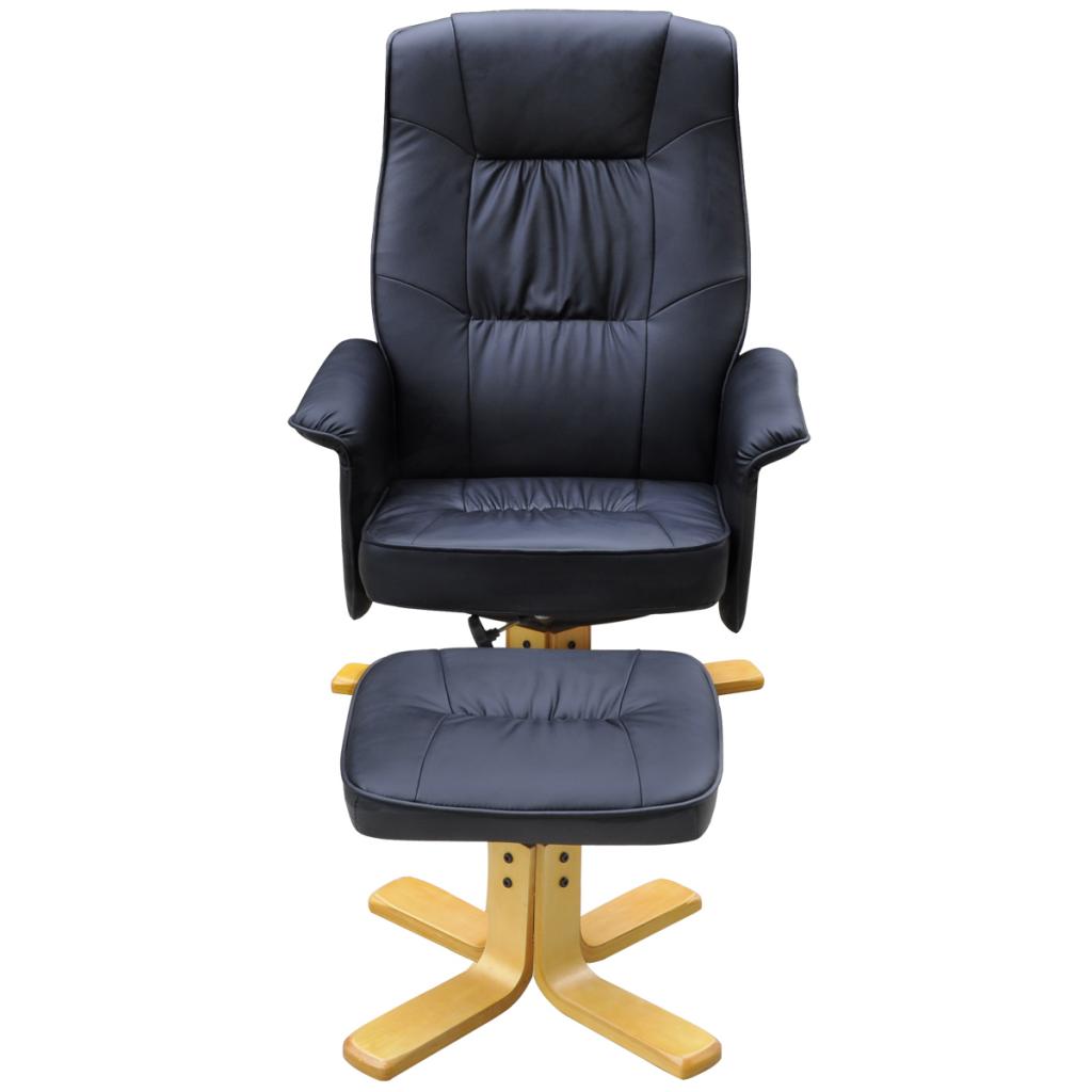Ansprechend Sessel Mit Fußstütze Ideen Von 241035 Tv-sessel Lehnstuhl Kunstleder Schwarz Fußstützen