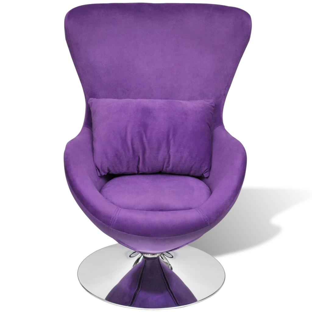 Etonnant Small Purple Egg Swivel Chair With Cushion