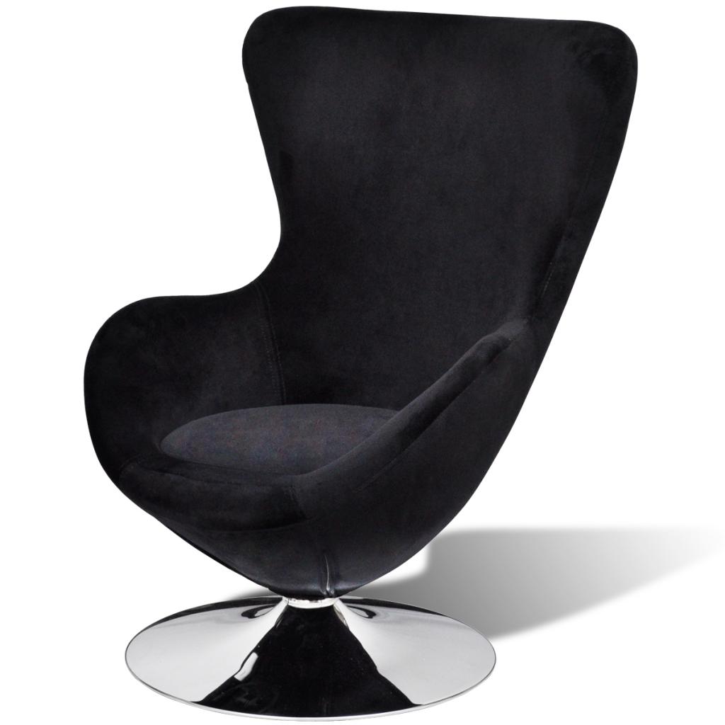 S lo silla peque a negro huevo giratorio con el for Silla huevo precio