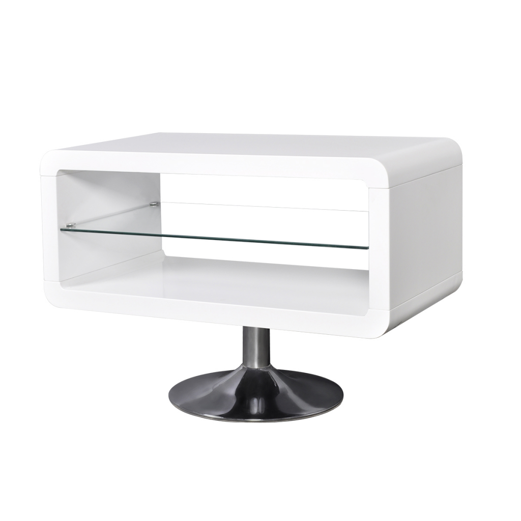 LED TV Stand Gloss White 80 Cm
