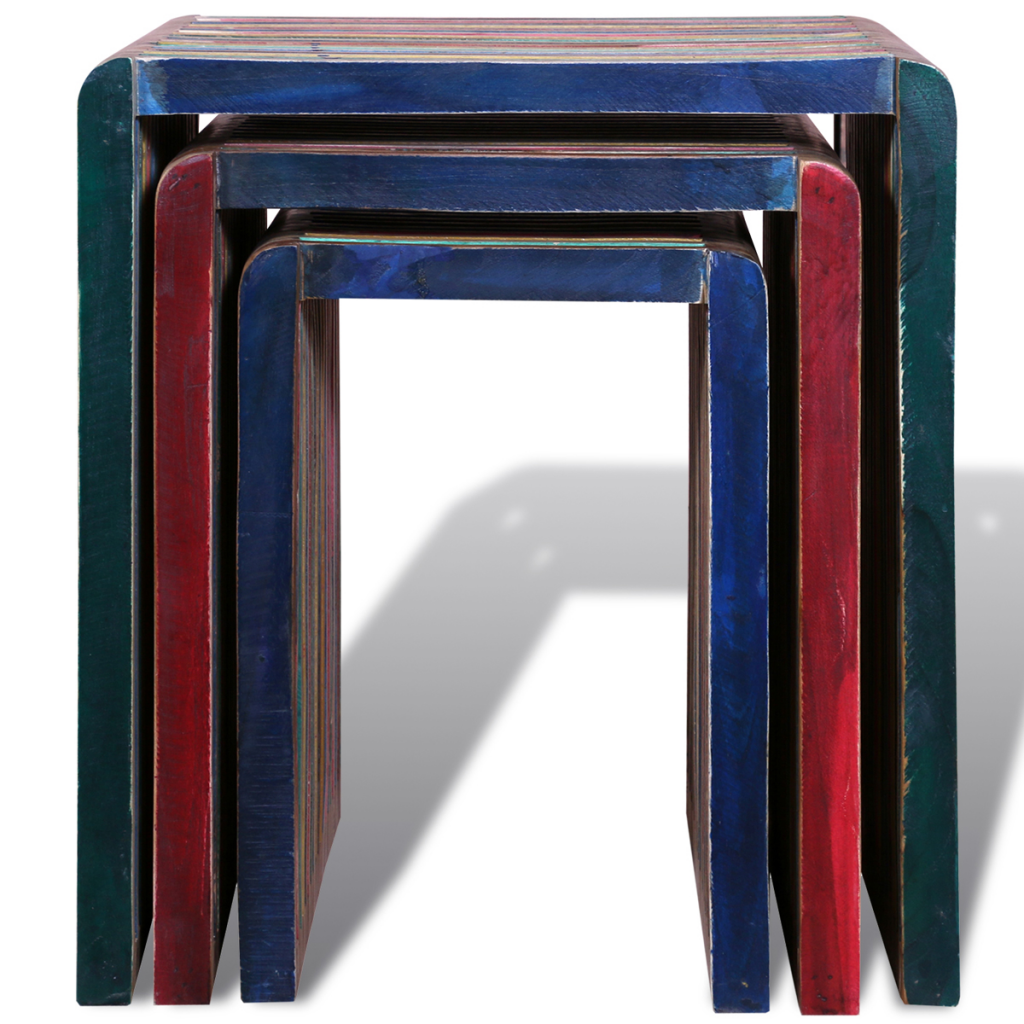 3 Nesting Tables in Stained Antique Teak Wood  sc 1 st  LovDock.com & multicolor 3 Nesting Tables in Stained Antique Teak Wood - LovDock.com