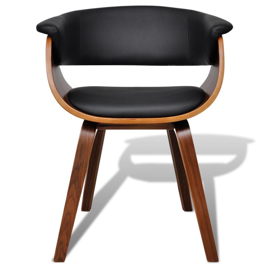 moderne artificielle bois en cuir chaise de salle manger 6 pcs - Chaise Bois Moderne