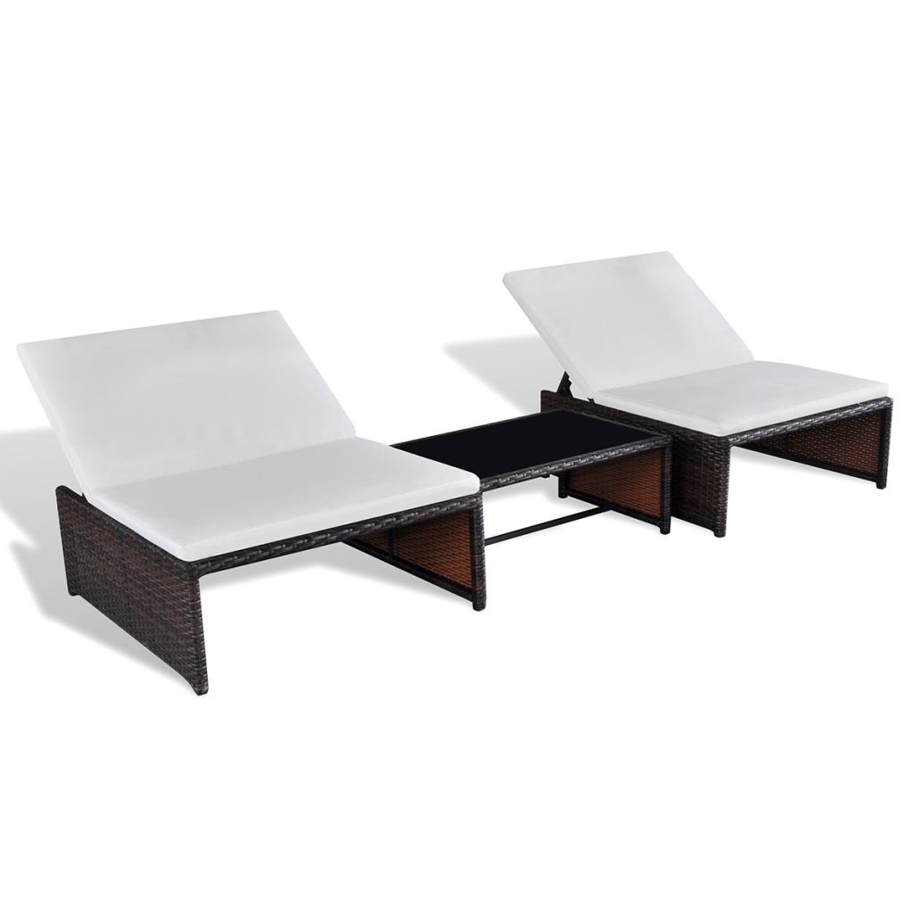 Nur 137.75€, Poly Rattan Zwei-Sitzer Lounge Set Gartenmöbel mit ...