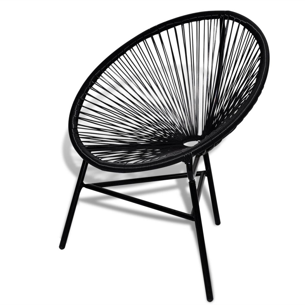 Only 60.82€, Chaise en rotin ovale noir - LovDock.com