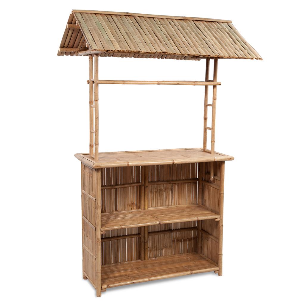 Set Bambus Bar Mit 2 Hockern Und 1 Tisch