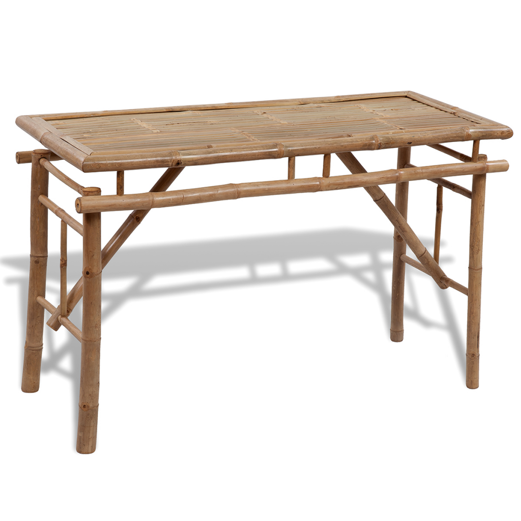 brown Picnic Set / Folding Brewery 1 Table and 2 benches in bamboo ...