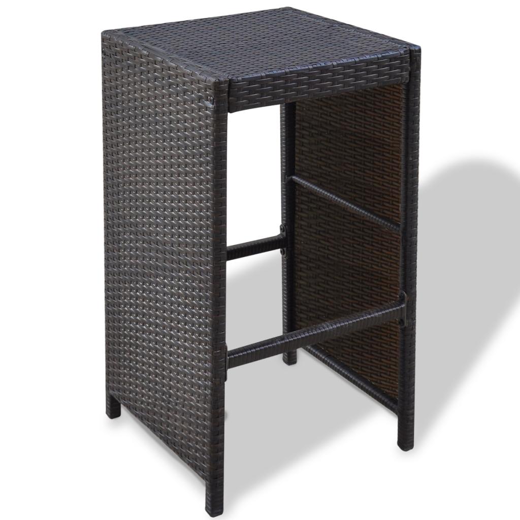 brown white 13 pcs garden bar set poly rattan brown. Black Bedroom Furniture Sets. Home Design Ideas