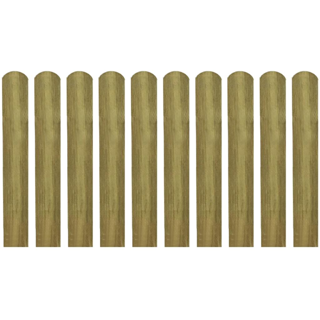 wood latte impregnated wooden fence 10 pcs 60 cm. Black Bedroom Furniture Sets. Home Design Ideas