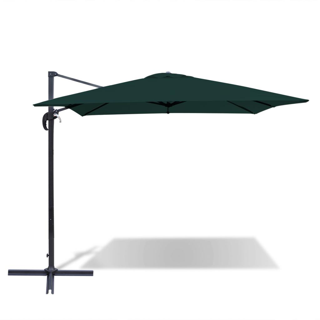 green cantilever umbrella m square aluminium green. Black Bedroom Furniture Sets. Home Design Ideas