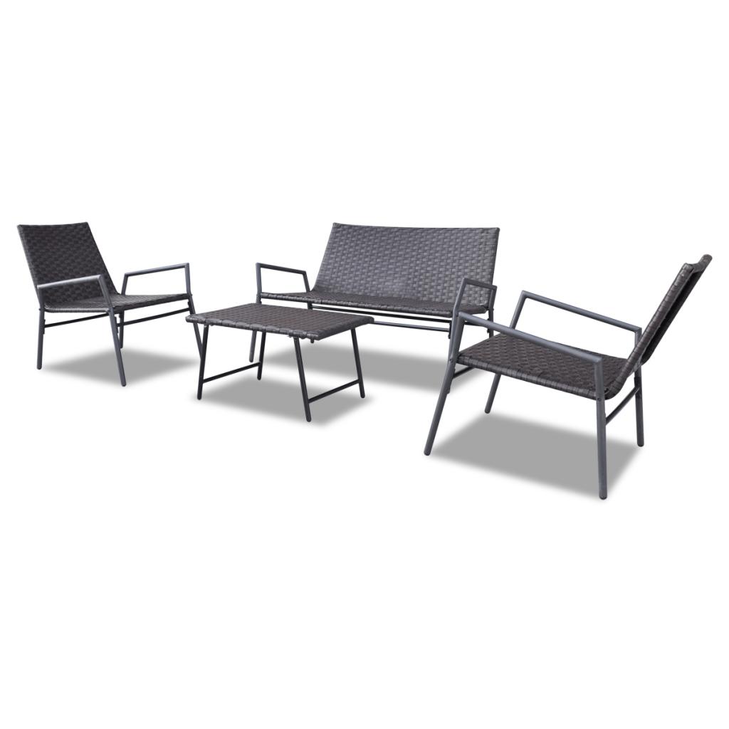 Nur 184.74€, Brown Polyrattan Stuhl Set Tisch im Freien Gartenmöbel ...