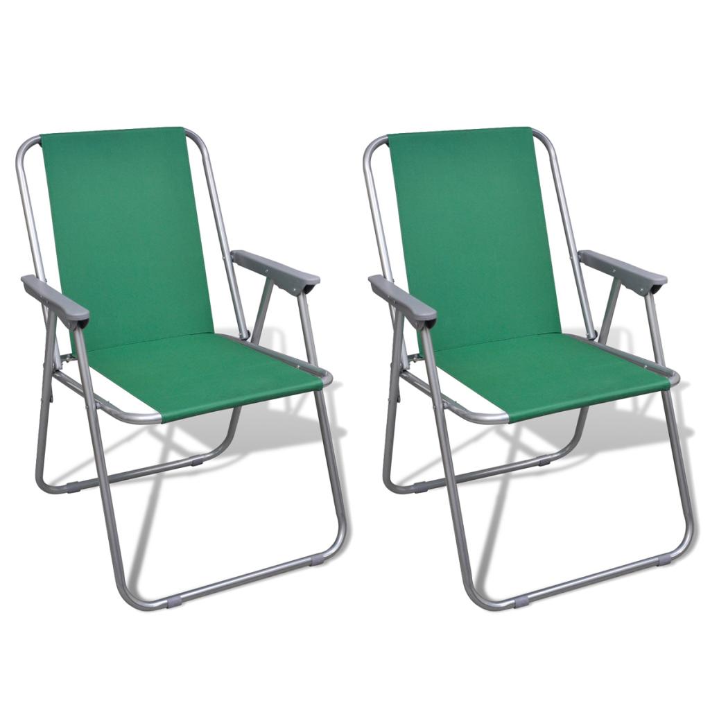 Sedie Da Campeggio Pieghevoli.Solo 31 52 Sedia Pieghevole Set 2 Pezzi Sedie Da Campeggio Verde