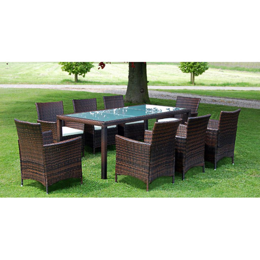 8 80€Brown Tabelle 635 Polyrattan Gartenmöbel Set Nur 1 Stühle OP8kn0wXNZ