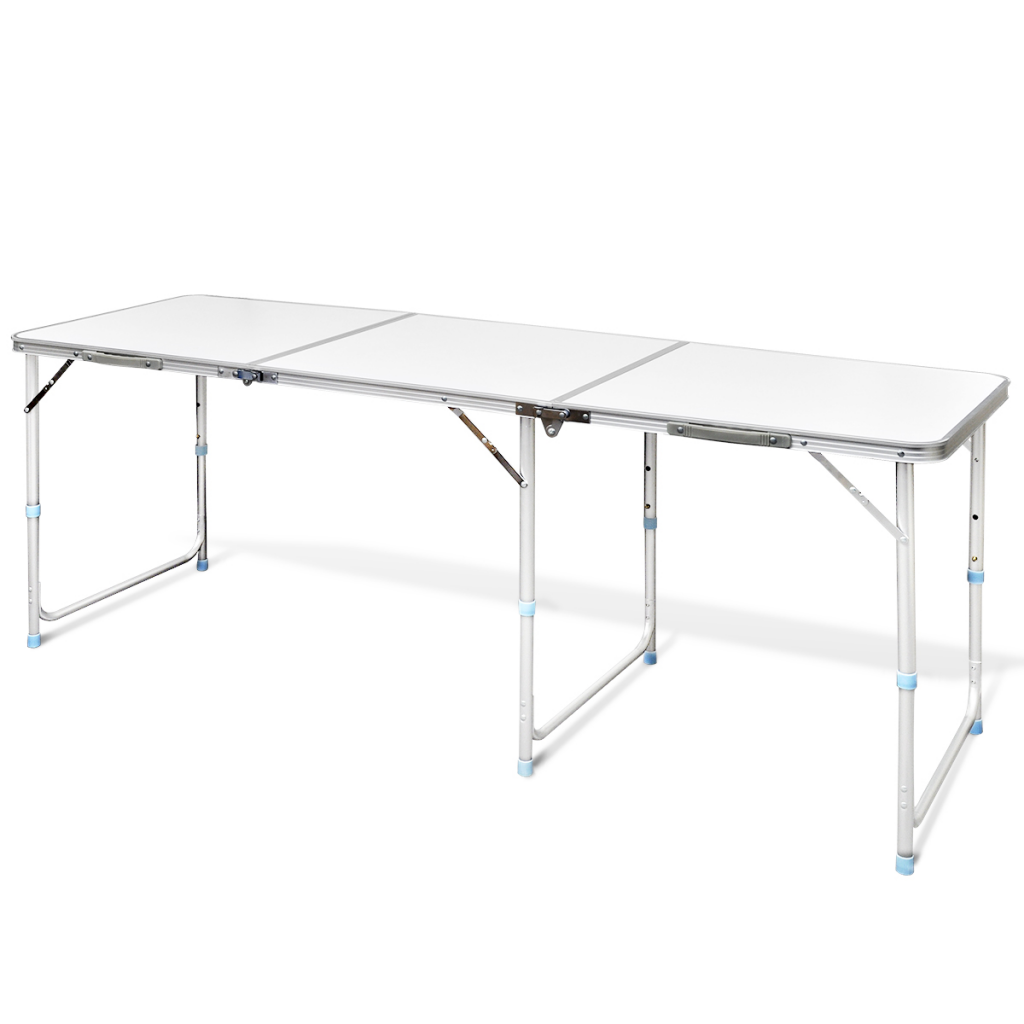 White foldable camping table height adjustable aluminium - Camping table adjustable height ...