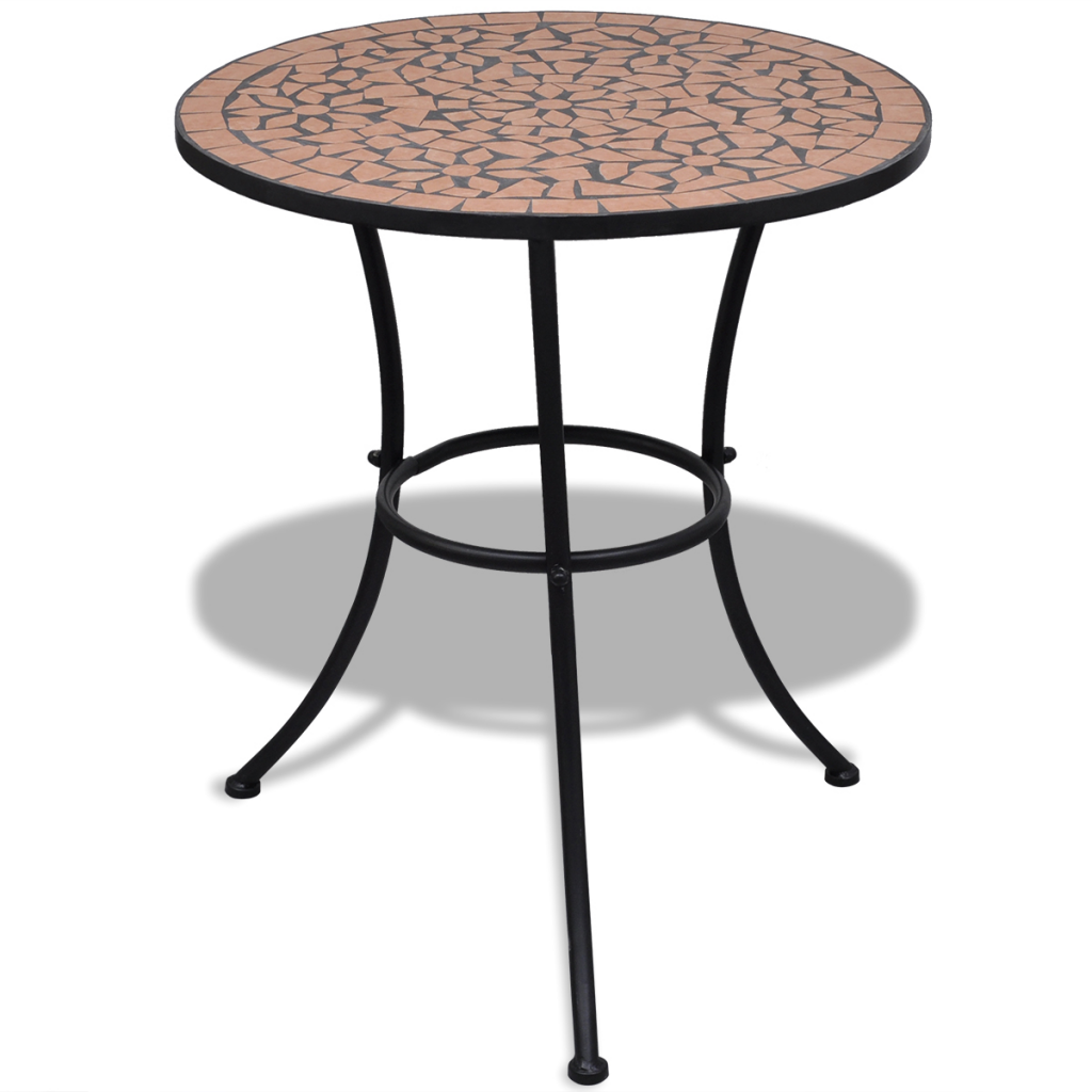 brown mosaic table 60 cm terracotta. Black Bedroom Furniture Sets. Home Design Ideas