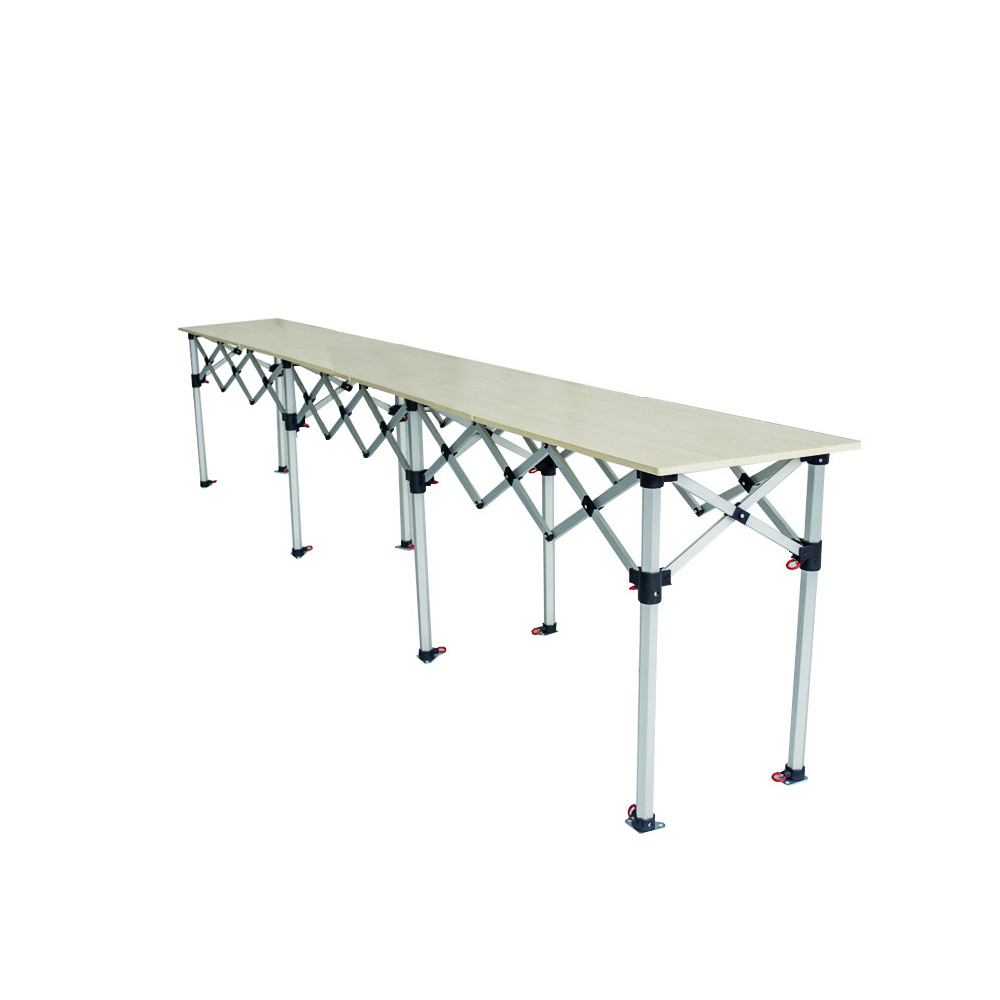 Comptoir table pliante hauteur r glable 435x60cm plateau - Table de bridge pliante ...