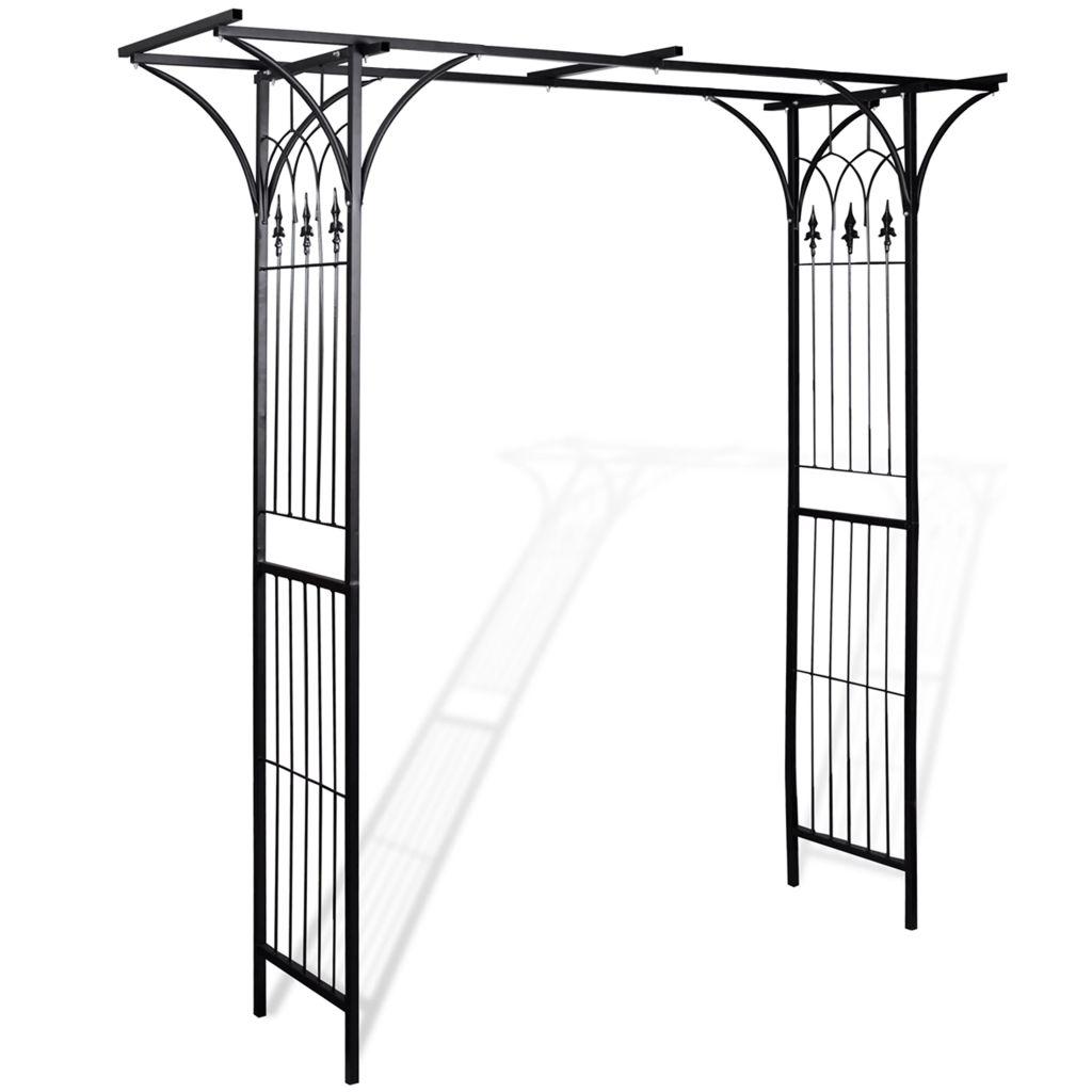 arche de jardin support de plante grimpante pergola en fer de 2m. Black Bedroom Furniture Sets. Home Design Ideas