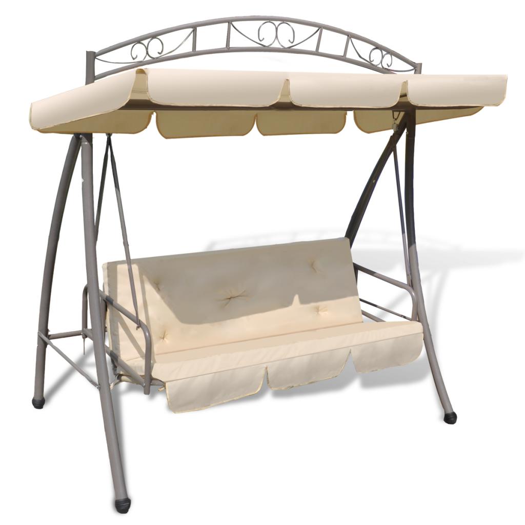 balan oire balancelle transat lit avec auvent blanc pour ext rieur. Black Bedroom Furniture Sets. Home Design Ideas