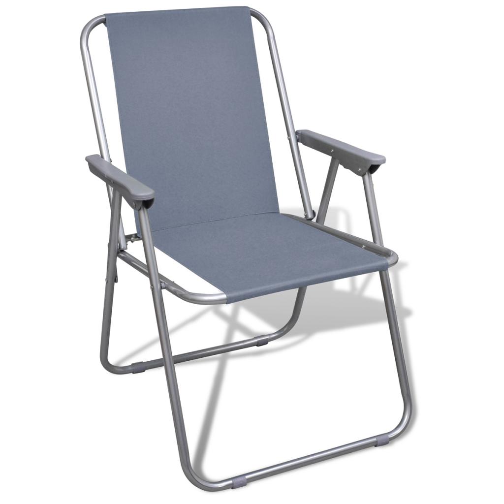 S lo juego de 2 sillas plegables gray para acampar for Sillas para acampar walmart