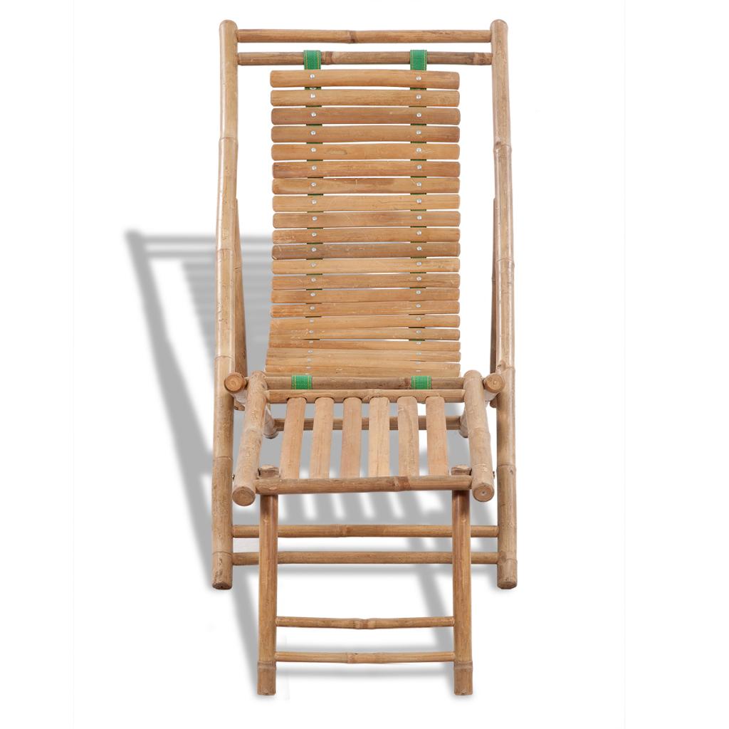Chaise longue en bambou bain de soleil transat for Chaise longue transat jardin