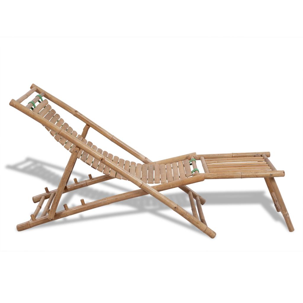 Chaise longue en bambou bain de soleil transat for Acheter chaises longues