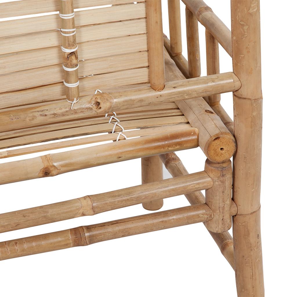 banc en bambou avec dossier. Black Bedroom Furniture Sets. Home Design Ideas