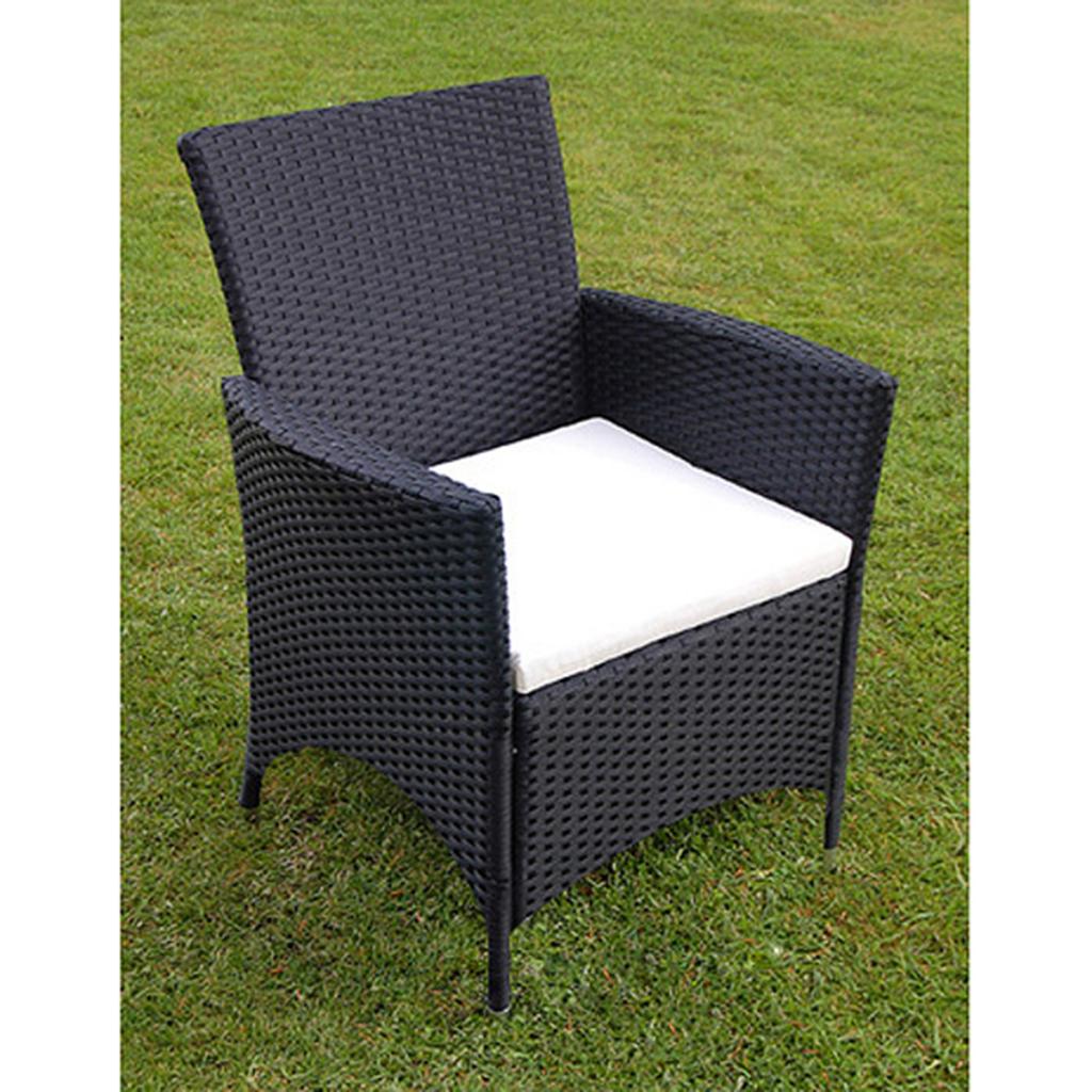 ensemble de jardin table et 8 chaises en polyrotin noir. Black Bedroom Furniture Sets. Home Design Ideas