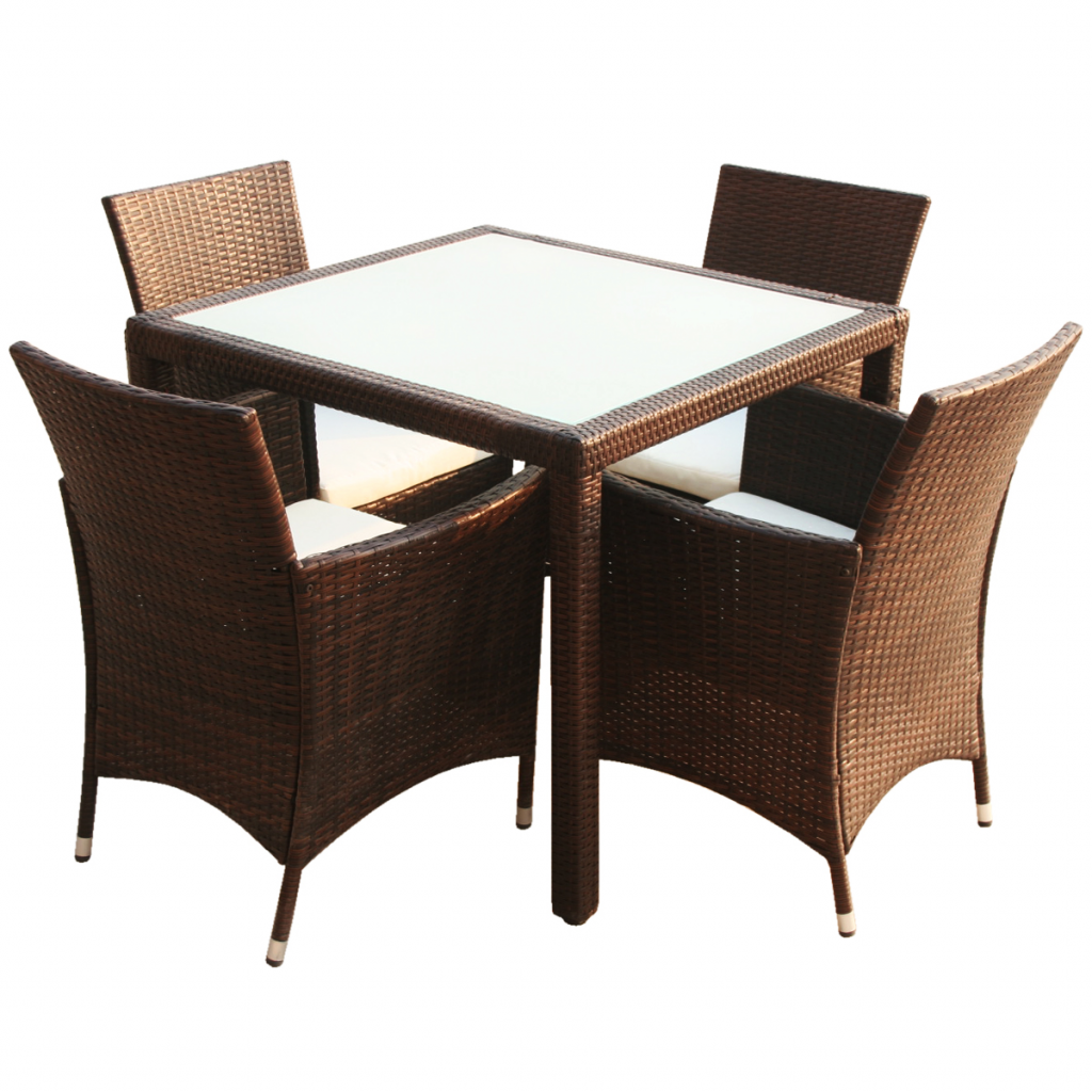 Ensemble de jardin table et chaise marron interougehome for Ensemble table et chaise de jardin grosfillex