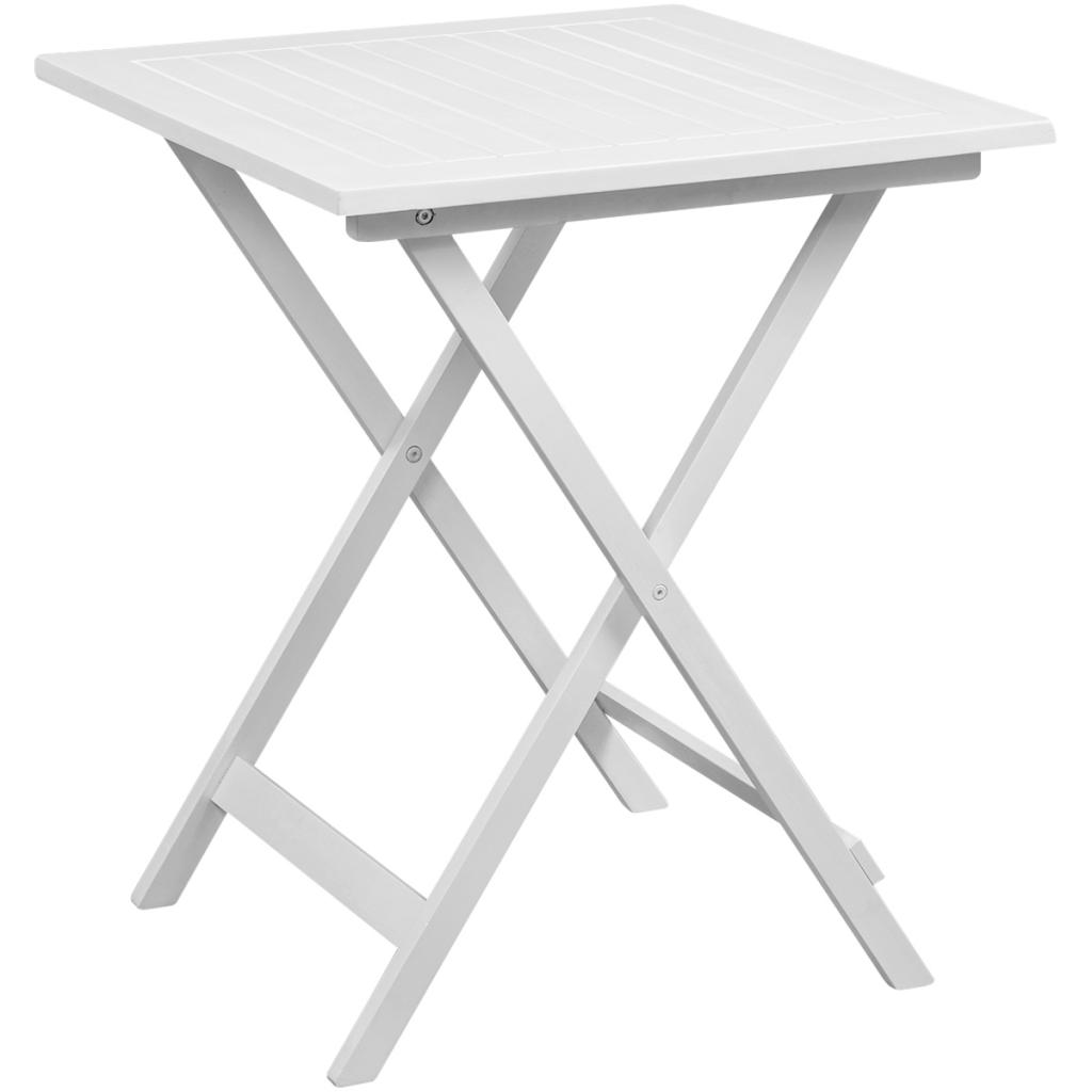 Table manger avec deux chaises pour balcon blanc bois d for Chaise table a manger blanc