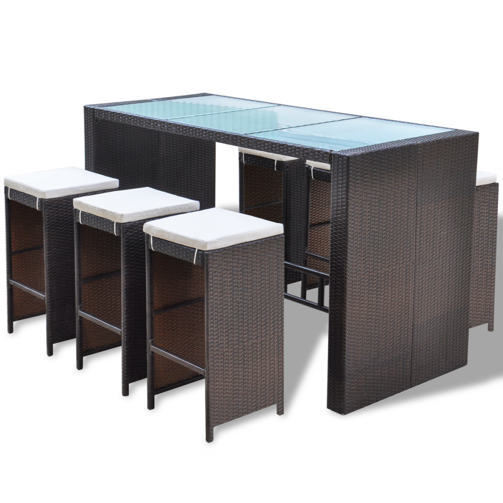 salon de jardin bar de jardin r sine tress e marron. Black Bedroom Furniture Sets. Home Design Ideas