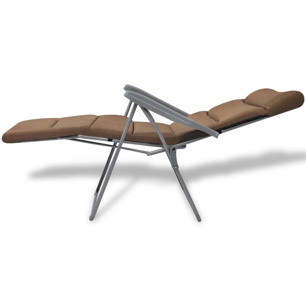 chaise de jardin pliable avec coussin 2 pcs marron. Black Bedroom Furniture Sets. Home Design Ideas