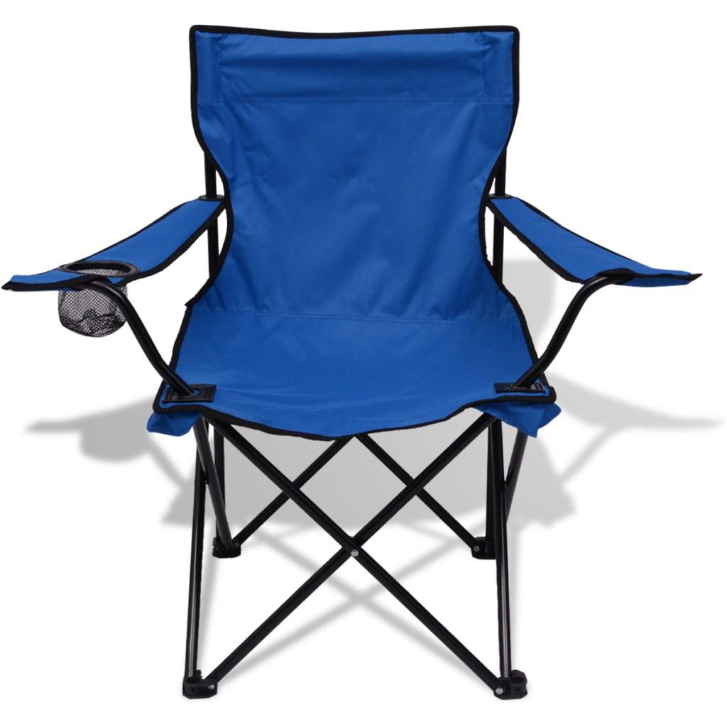 table et 2 chaises de camping bleu. Black Bedroom Furniture Sets. Home Design Ideas