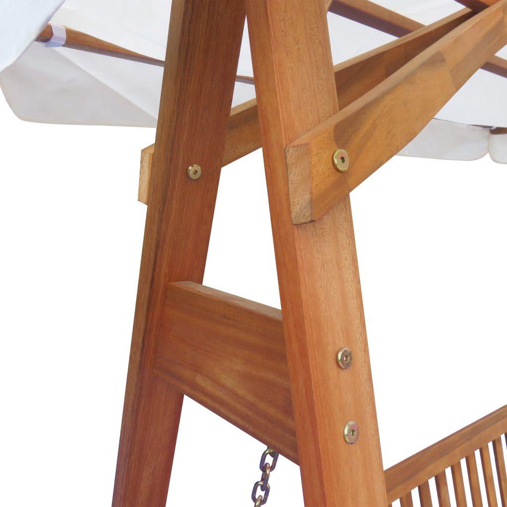 Dès 429.99€, Chaise balançoire pour jardin + baldaquin eucalyptus ...