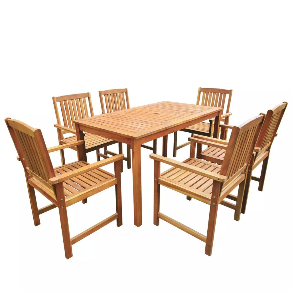 Ensemble salle à manger extérieur 6 personnes en acacia