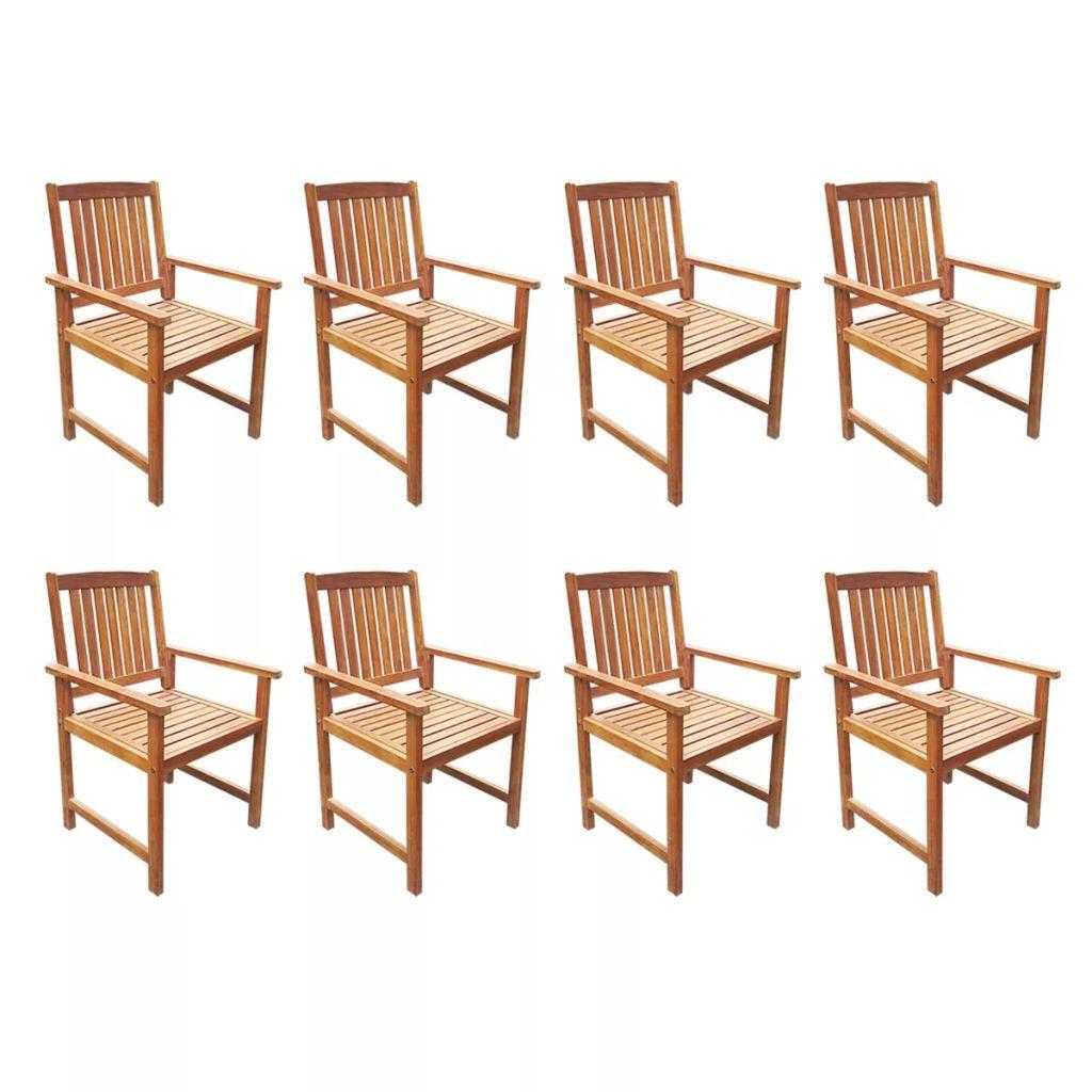 ensemble salle manger ext rieur 8 personnes en acacia. Black Bedroom Furniture Sets. Home Design Ideas