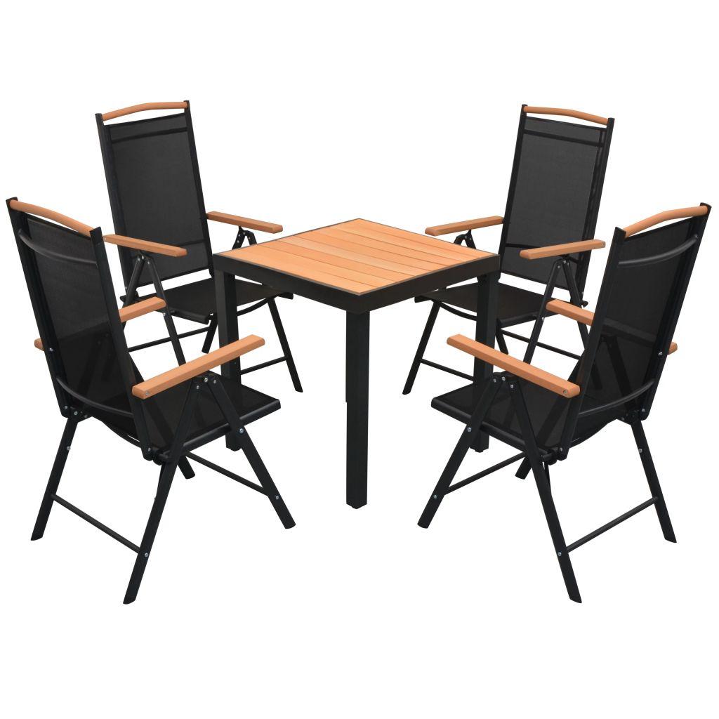 Ensemble Table Et Chaises De Jardin Pour 4 Personnes