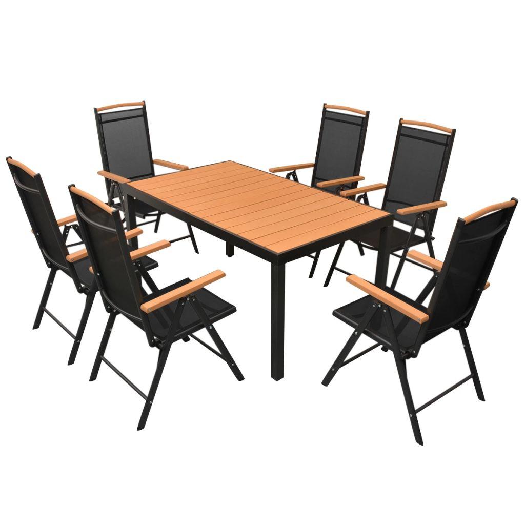 Ensemble Table Et Chaises De Jardin Pour 6 Personnes