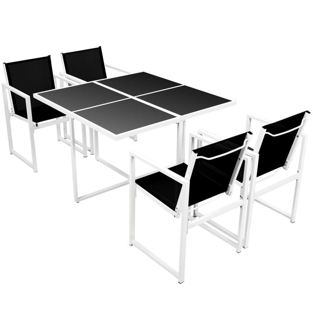 ensemble de salle manger ext rieur 4 personnes aluminium. Black Bedroom Furniture Sets. Home Design Ideas