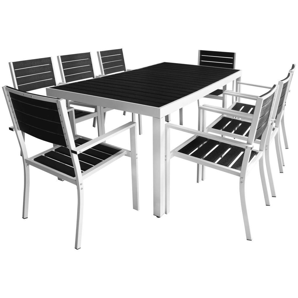 ensemble de salle manger ext rieur 8 personnes aluminium. Black Bedroom Furniture Sets. Home Design Ideas