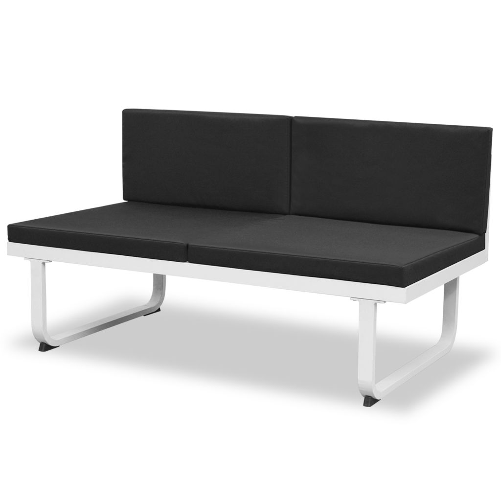d s salon de jardin 8 personnes noir. Black Bedroom Furniture Sets. Home Design Ideas