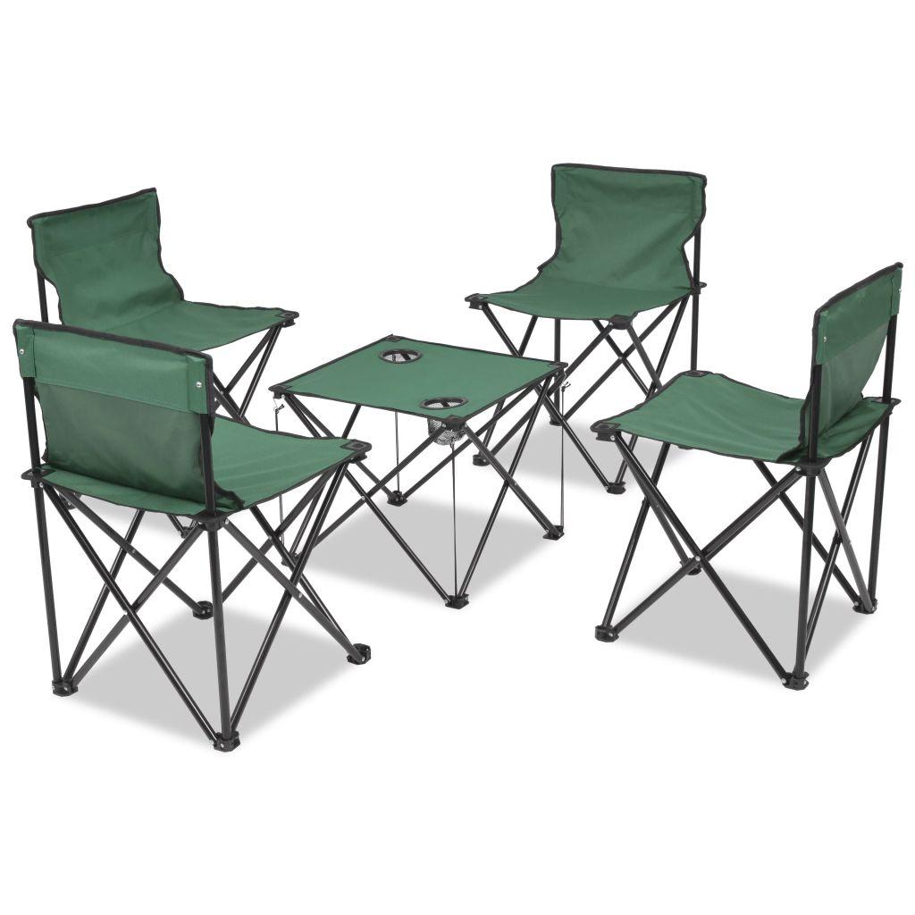 mobilier de camping pliant 4 personnes vert acier seulement sur. Black Bedroom Furniture Sets. Home Design Ideas