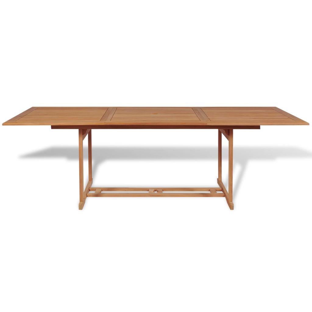 Table manger rectangulaire d 39 ext rieur 240x90x75 cm teck for Table a manger rectangulaire